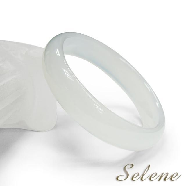 【Selene 珠寶】冰透潤澤白玉髓手鐲(手圍 #18、18.5、19cm)