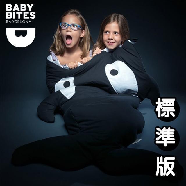 【西班牙鯊魚咬一口 BabyBites 西班牙製 100% 純棉手工嬰兒 幼兒園睡袋 防踢被】小殺人鯨(兒童版)
