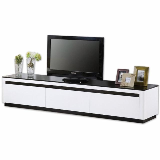 【Bernice】奈拉6.7尺簡約現代三抽電視櫃/長櫃