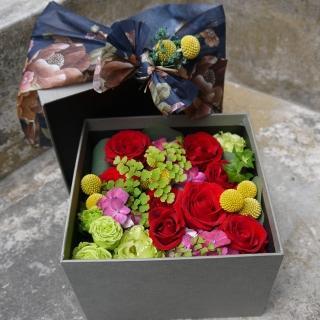 【Santa Ana】紅玫瑰花盒(新鮮花材與高質感紙盒的組合)