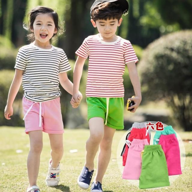 【小衣衫童裝】中性款兒童棉質休閒風短褲(1060704)