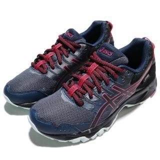 【ASICS】慢跑鞋 Gel-Sonoma 3 運動 女鞋 G-TX 防水 戶外 越野 跑鞋 避震 舒適 藍(T777N5090)