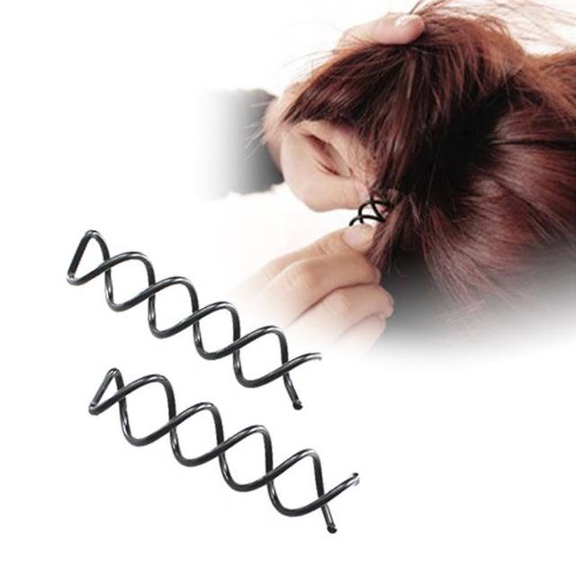 【kiret】神奇造型隱形螺旋髮夾10入(旋轉造型髮夾 盤髮 包包頭 丸子頭)