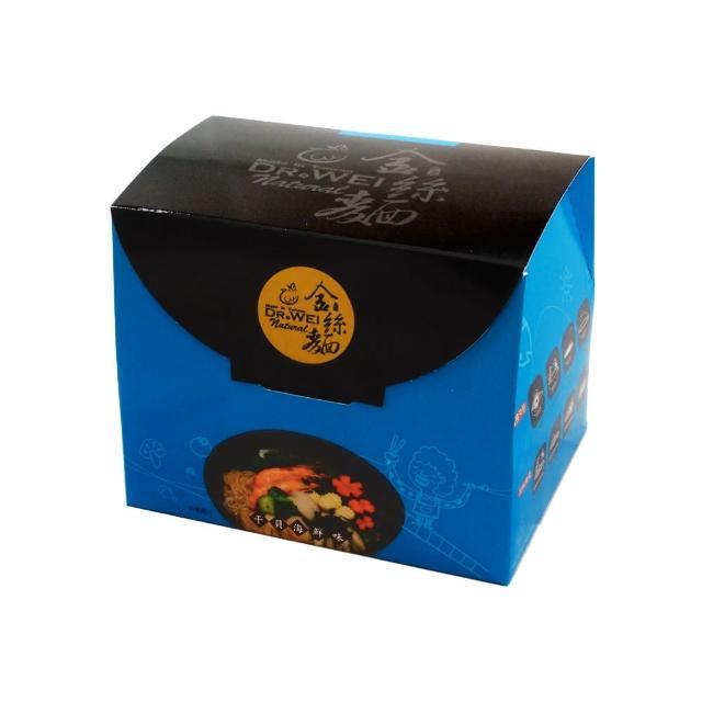 【阿嬤的手感金絲麵】干貝海鮮味 盒裝(雞絲麵 海鮮 泡麵 細麵)