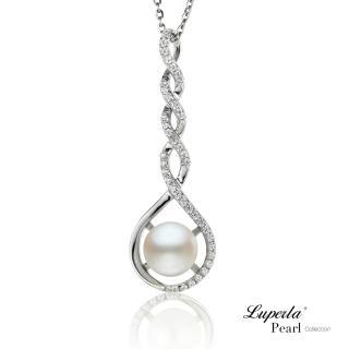 【大東山珠寶】情有獨鍾 純銀晶鑽珍珠項鍊(天然淡水珍珠)