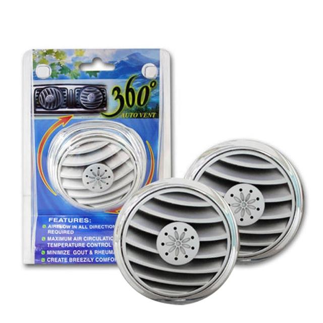 360度冷氣孔風向循環器2入(汽車|散熱|風扇)