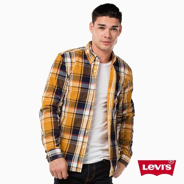 【Levis】男款長袖襯衫 / 格紋