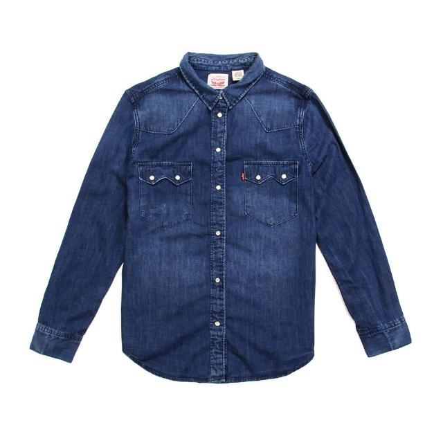 【Levis】SAWTOOTH 長袖牛仔襯衫 / 珍珠扣