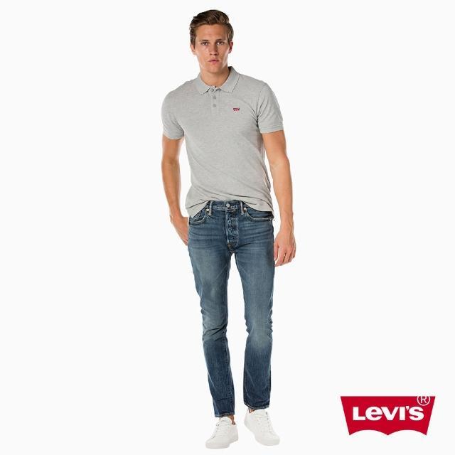 【Levis】501 Skinny 中腰緊身牛仔褲 / 彈性布料 / 中藍洗色