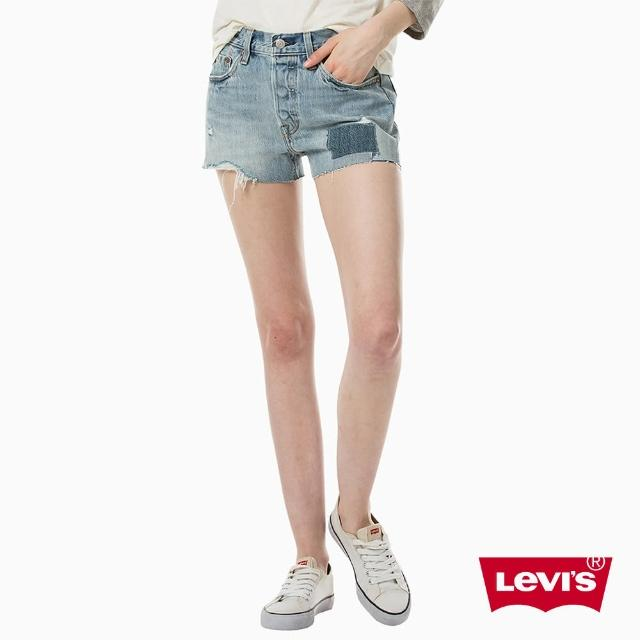 【Levis】501 中腰牛仔短褲 / 排扣 / 不收邊