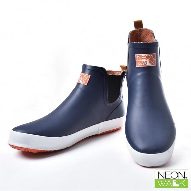 【Neon Walk 尼沃】男款短筒休閒雨靴-藍色(雨鞋 雨靴 長筒雨靴 中筒靴 高筒靴 neonwalk)