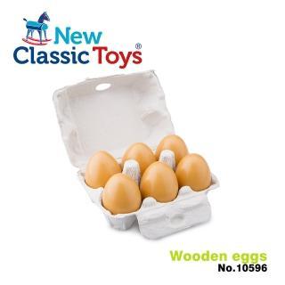【荷蘭New Classic Toys】盒裝雞蛋6顆(10596)
