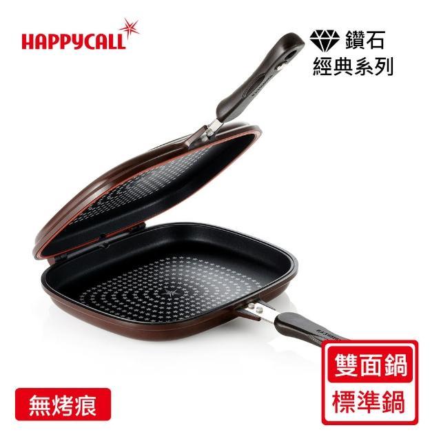 【韓國HAPPYCALL】熱循環鑽石雙面鍋(咖啡標準)