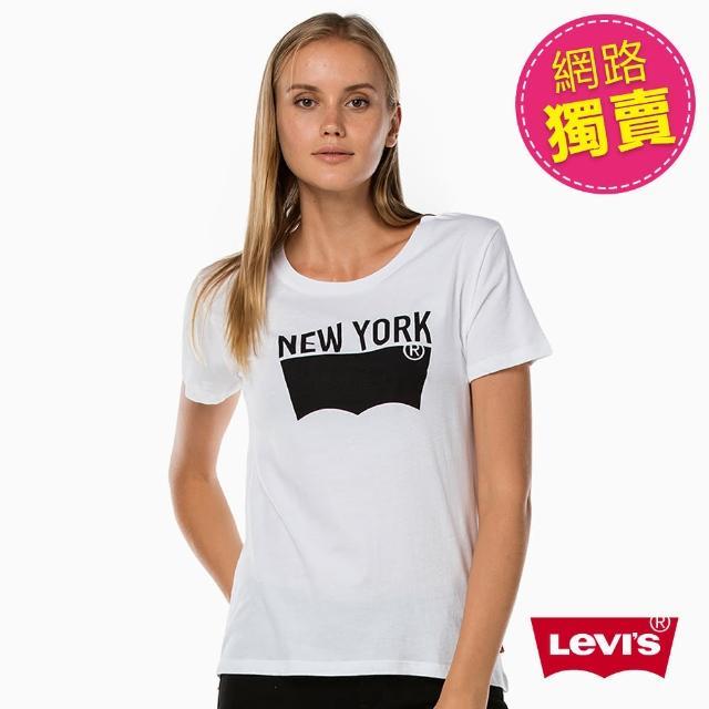 【Levis】短袖純棉TEE / New York / 白