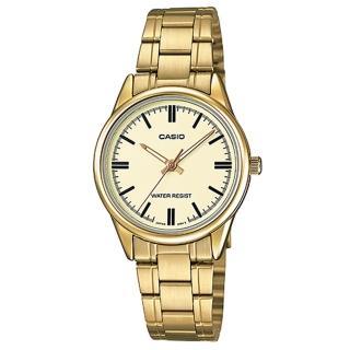 【CASIO】經典淑女時裝時尚金羅馬指針腕錶(LTP-V005G-9A)