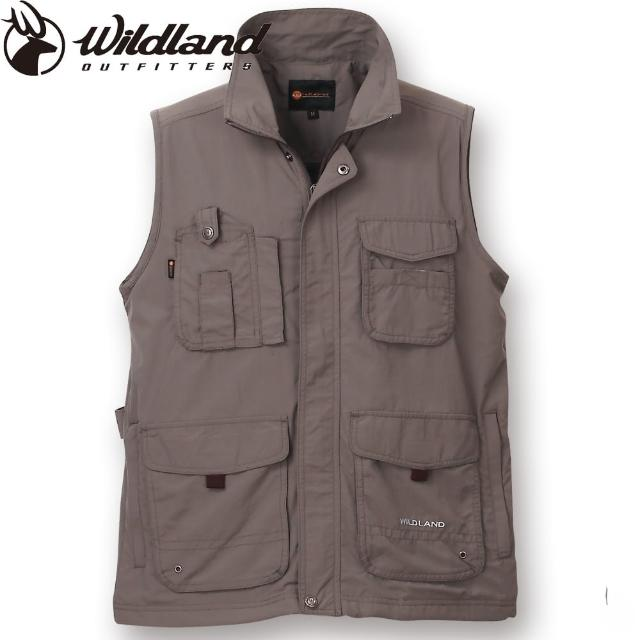 【荒野wildland】BREATHABLE WICKING ANTI-UV VEST中性透氣抗UV多口袋背心(64伸卡灰)