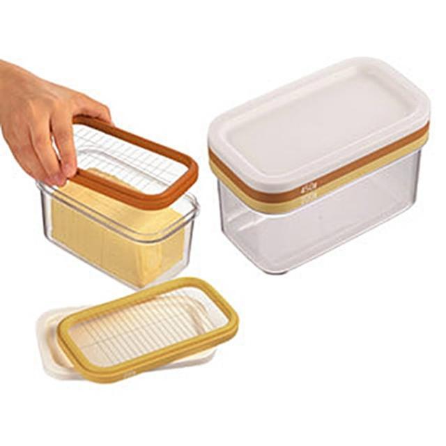 【日本原裝進口】AKEBONO 曙產業 ST-3006 三層式 奶油切塊保存盒(薄塊切片 豆腐 愛玉 仙草 切割盒)