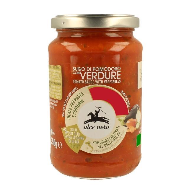 【Alce Nero有機尼諾】有機番茄蔬菜義大利麵醬350g