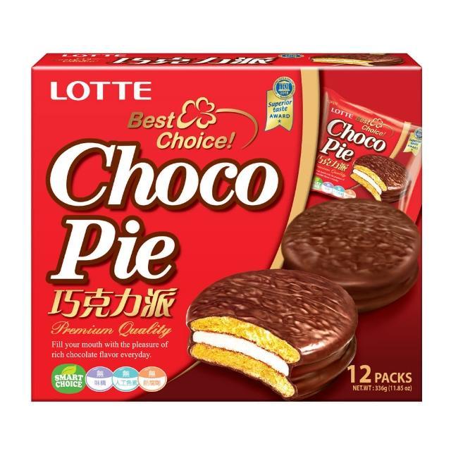 【LOTTE】巧克力派(12顆裝)