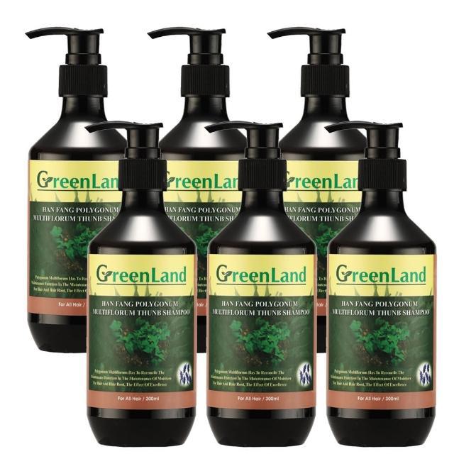 【GreenLand】何首烏深層養護黑亮草本洗髮精(6瓶)