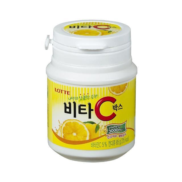【LOTTE】Vita C檸檬糖(罐裝)65g