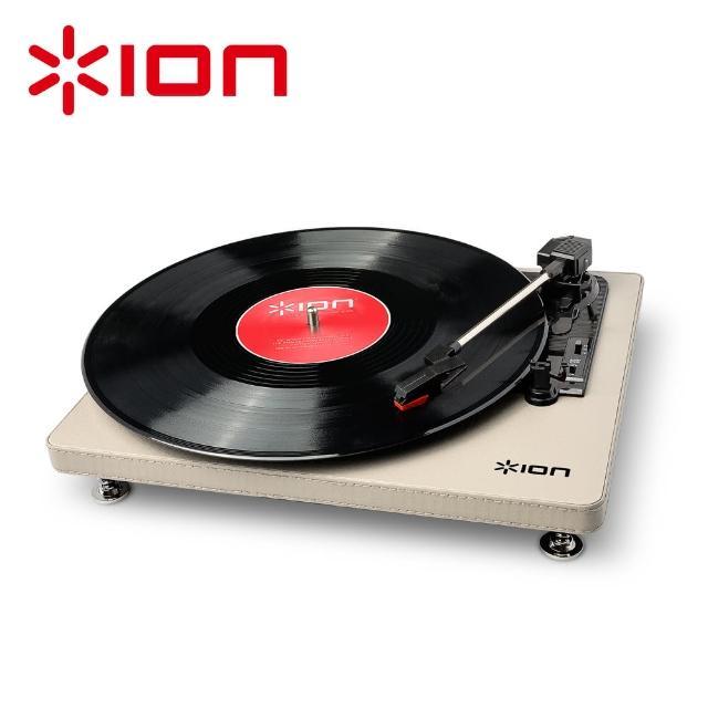 【ION Audio】Compact LP 摩登皮革黑膠唱機 - 奶油白
