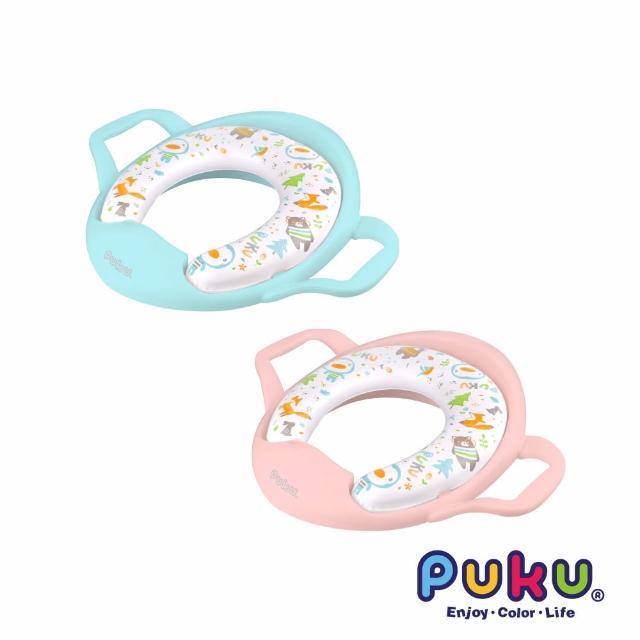 【PUKU藍色企鵝】飛機把手學習便座(藍/紅/黃/綠)