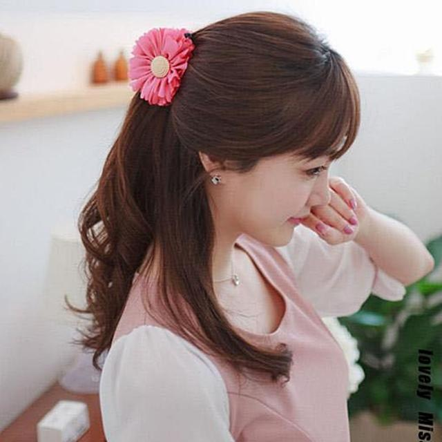 【梨花HaNA】韓國盛開的太陽花立體花卉髮圈