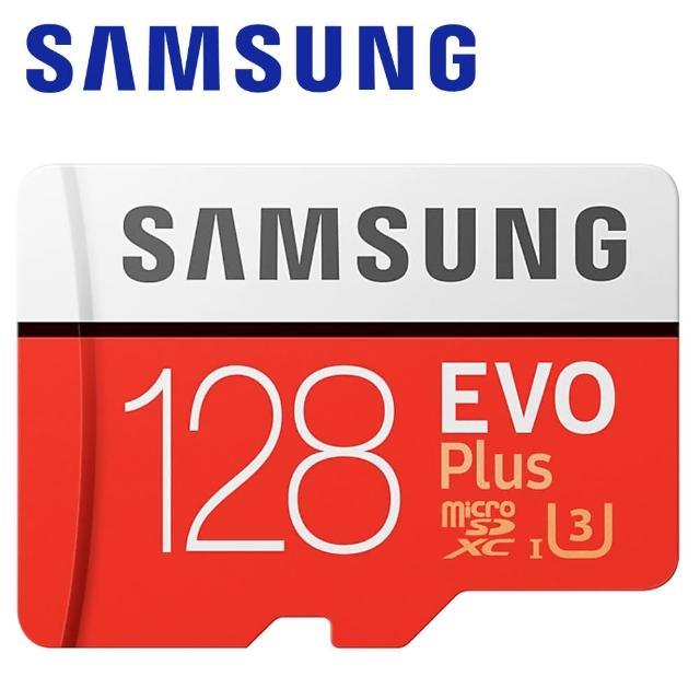 【Samsung 三星】128GB 100MB/s EVO Plus microSDXC TF UHS-I U3 記憶卡