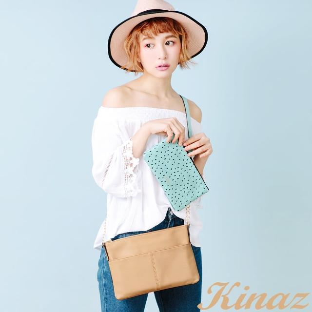【KINAZ】繽紛果漾斜背包-奇異果卡其-熱帶水果系列
