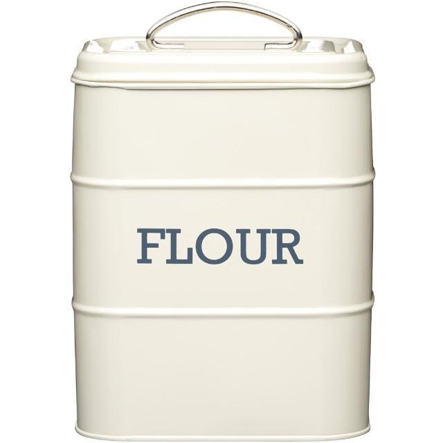 【KitchenCraft】復古麵粉密封罐(奶油黃)