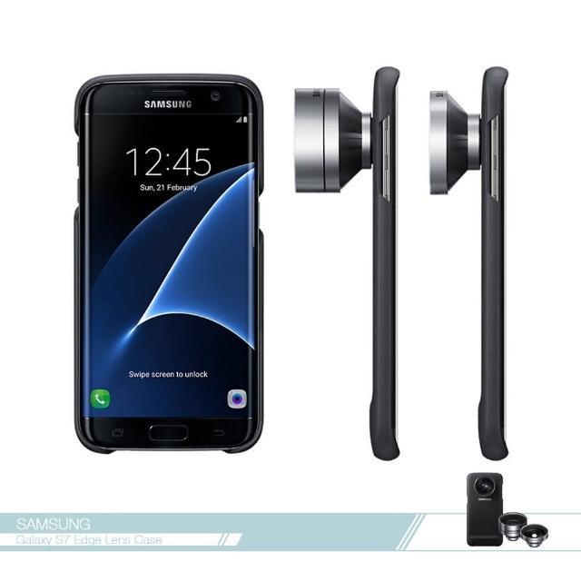 【Samsung三星】原廠Galaxy S7 edge專用 鏡頭式背蓋組(真皮質感 /防震薄型保護套 /防護硬殼 /手機殼)