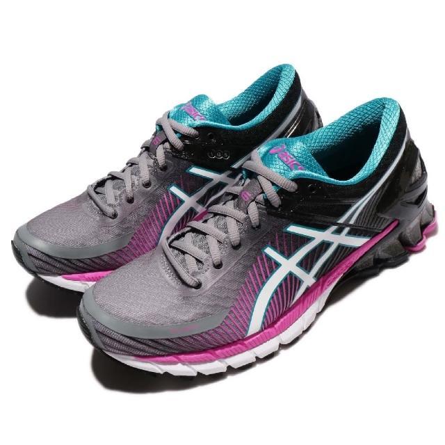 【ASICS】慢跑鞋 Gel-Kinsei 6 運動 女鞋 慢跑 馬拉松 高避震 舒適 跑鞋 透氣 灰 粉(T694N9601)