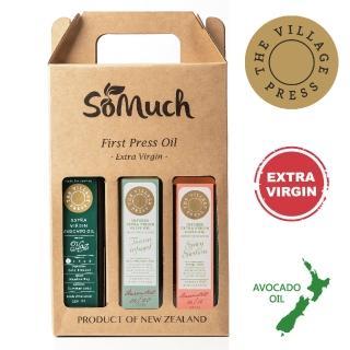 【壽滿趣- 紐西蘭廚神系列】黃金酪梨油/義式香蒜/香辣西西里風味橄欖油(250ml三瓶禮盒裝)