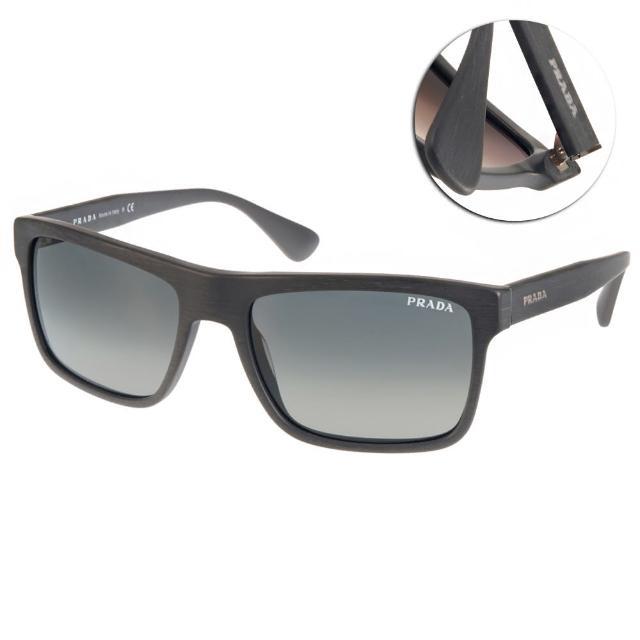 【PRADA太陽眼鏡】簡約百搭方框款(灰#PR01S TV42D0)