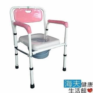 【海夫健康生活館】富士康 鐵製 軟墊 折疊式 便盆椅(FZK-4221)