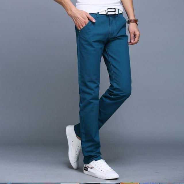 【NBL】L03378B湖藍色/K卡其色/BK黑色長褲(韓版休閒純棉直筒長褲)