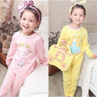 【baby童衣】居家套裝 公主印花女童長袖套裝 附小提包 70040(共2色)