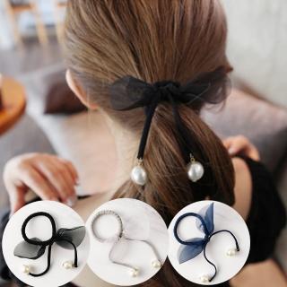 【UNICO】韓版時尚新款雪紡布藝蝴蝶結髮圈