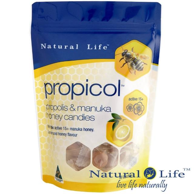 【Natural Life澳洲】活性麥蘆卡蜂蜜蜂膠潤喉糖(40顆)