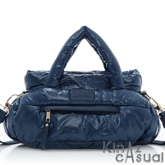【KINAZ casual】輕巧隨行兩用斜背包-炫光藍-空氣漫步系列
