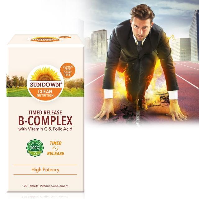 【美國Sundown日落恩賜】高單位緩釋型B群+C-B12強化配方(100錠/瓶)