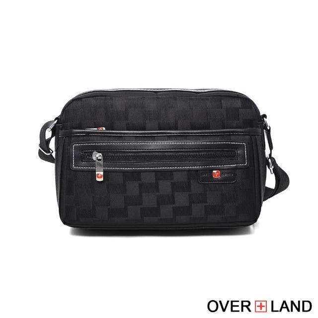 【OVERLAND】美式十字軍-美式潮酷格紋輕體側背包(2704)