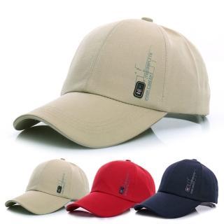 【活力揚邑】防曬透氣徽章棒球帽時尚百搭戶外運動帽遮陽帽鴨舌帽