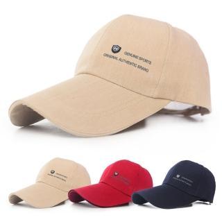 【幸福揚邑】加長帽檐防曬透氣22盾標棒球帽時尚百搭戶外運動帽遮陽帽鴨舌帽