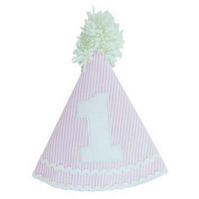 【美國 RuffleButts】寶寶/兒童生日帽 夏日甜蜜粉(RBBH03)