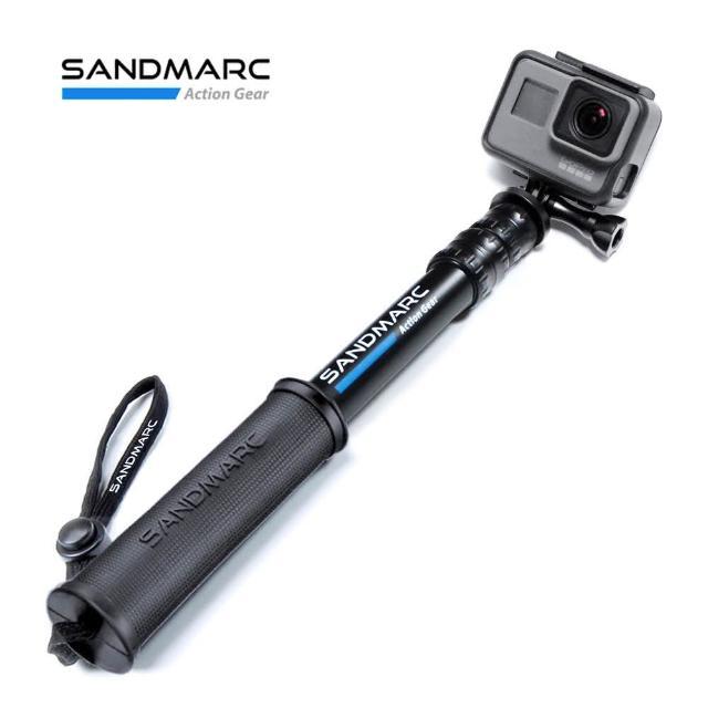 【SANDMARC】鋁合金強力延伸桿 旅行款 25吋 加贈 GoPro 板手(GoPro自拍棒 GoPro延伸桿 鋁合金延伸桿)