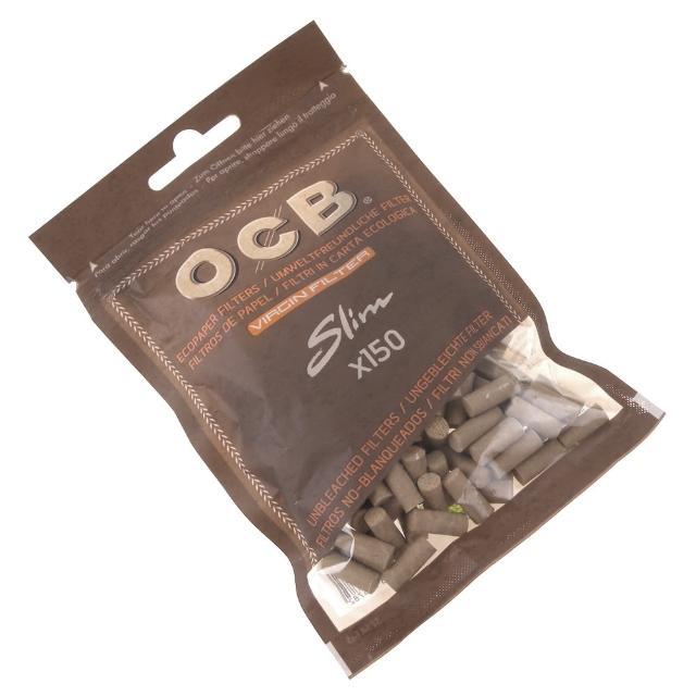 【OCB】法國進口捲煙用6mm Virgin-純天然未漂白濾嘴-150粒裝*2包