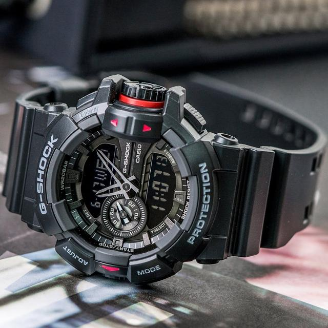 【CASIO 卡西歐】G-SHOCK 街頭時尚新潮流設計錶(GA-400-1B)