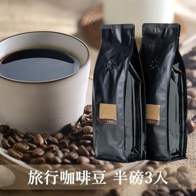 【大隱珈琲】嚴選咖啡豆 - 半磅裝3入(亞洲之星+義大利之星+南美之星)